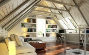 Nicht alle Dächer eignen sich für einen Dachausbau. Hier ein Mansarddach. Diese Dachform ist für einen Ausbau perfekt geeignet.