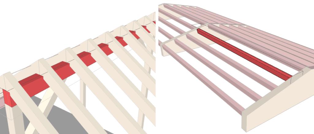 Dachkonstruktion-Pfetten