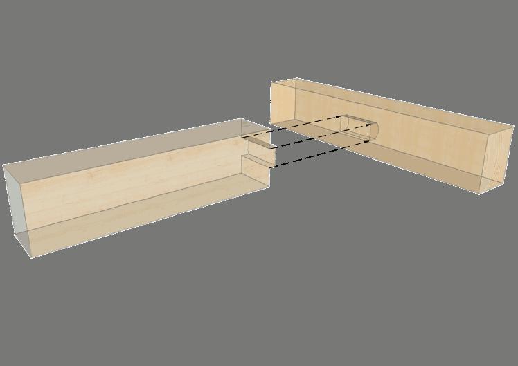Zimmermannsmäßige Holzverbindung: Einfacher Zapfen