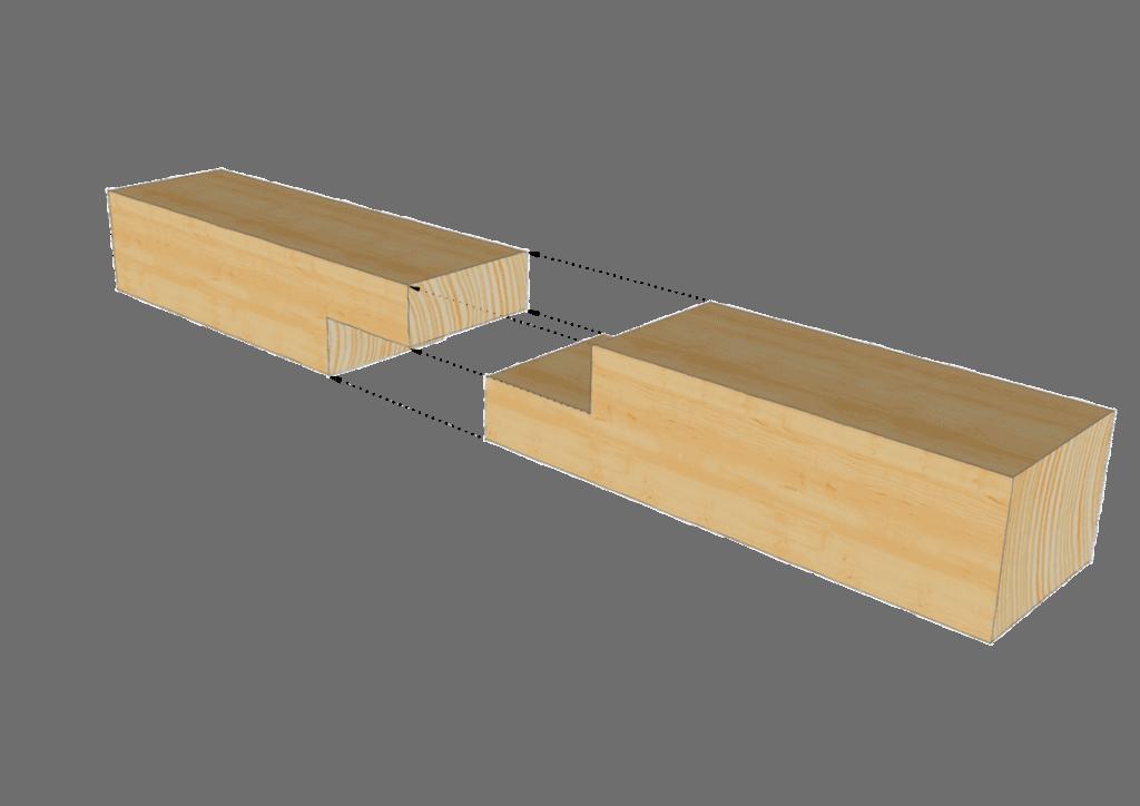 Zimmermannsmäßige Holzverbindung: Einfacher Blattstoß
