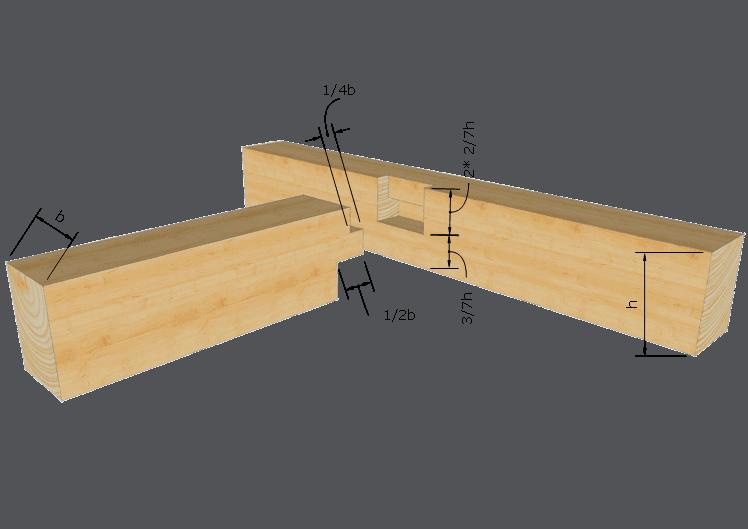 Zimmermannsmäßige Holzverbindung: Gerader Brustzapfen