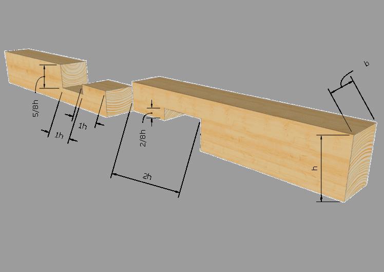 Zimmermannsmäßige Holzverbindung: Gerades Hakenblatt