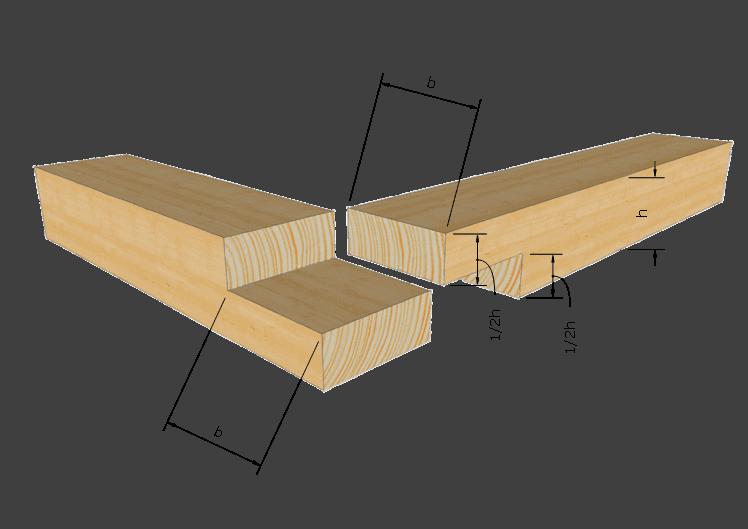 Zimmermannsmäßige Holzverbindung: Glattes Eckblatt