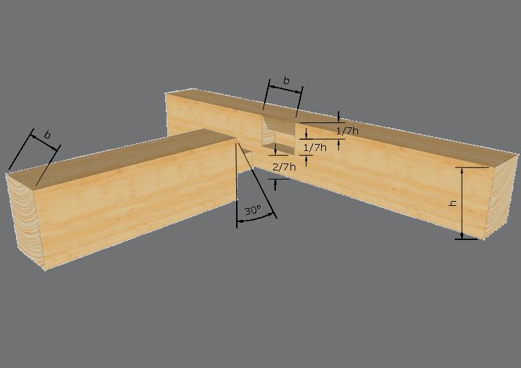 Zimmermannsmäßige Holzverbindung: Schräger Brustzapfen