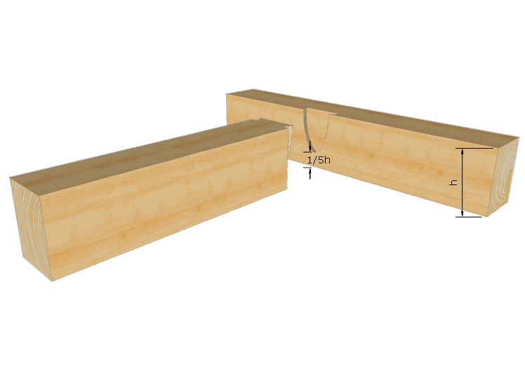 Zimmermannsmäßige Holzverbindung: Schwalbenschwanzzapfen