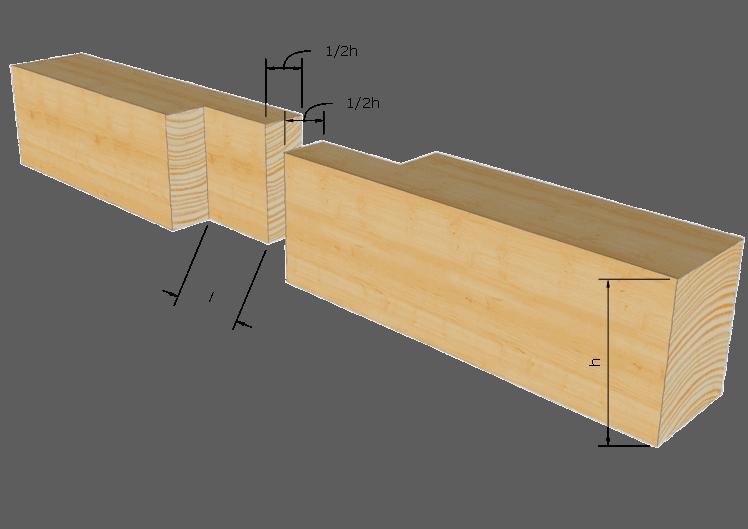 Zimmermannsmäßige Holzverbindung: Stehendes Blatt