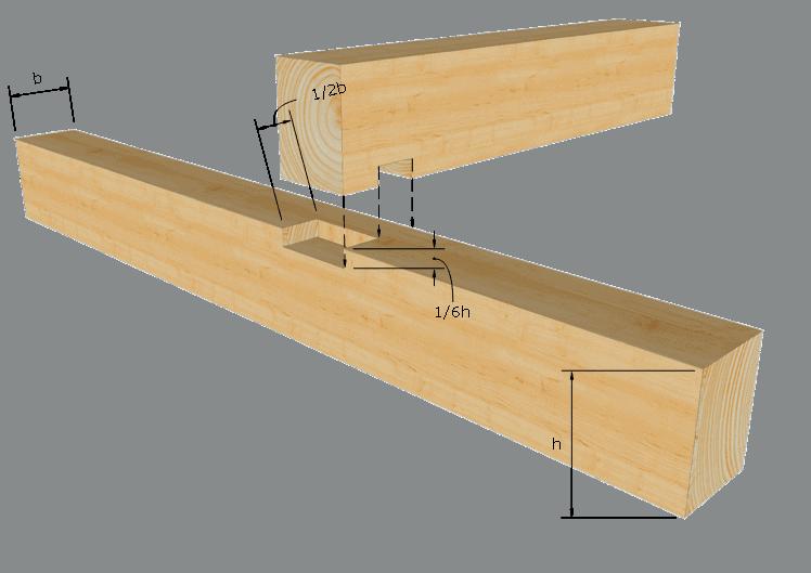 Zimmermannsmäßige Holzverbindung: Stufenkamm