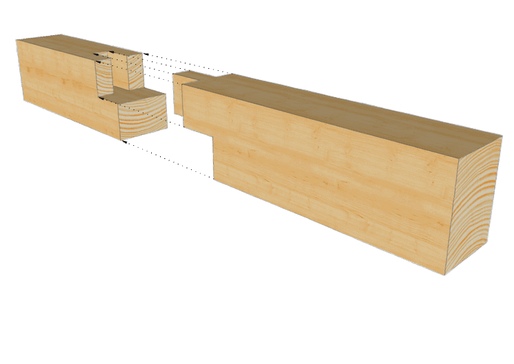 Zimmermannsmäßige Holzverbindung: Zapfenblattstoß