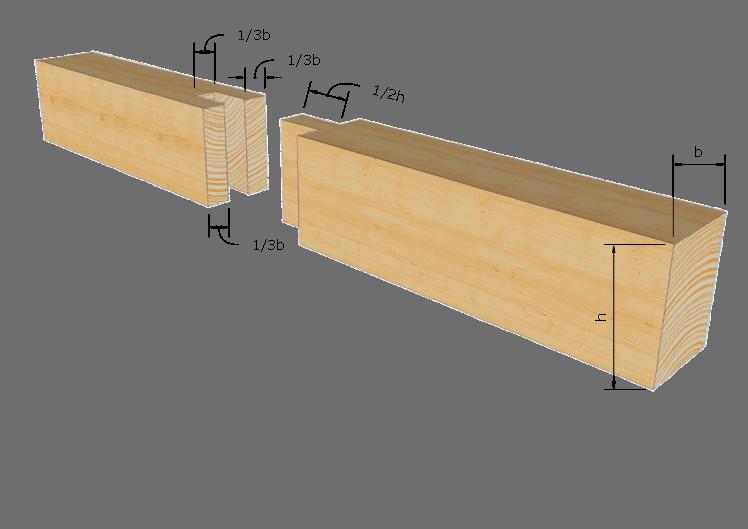Zimmermannsmäßige Holzverbindung: Zapfenstoß