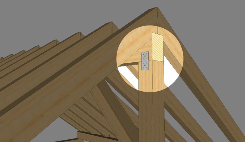 Balken verbinden: Kreuzung mit einem Flachverbinder