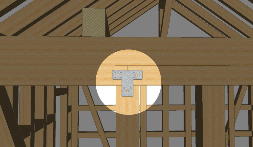 Balken verbinden: Kreuzung mit einem Kreuzflachverbinder