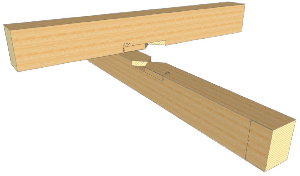 Balken verbinden: Kreuzung mit einem Kreuzkamm