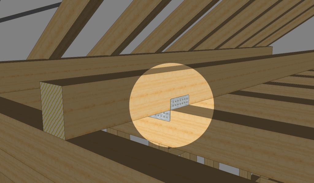 Holzbalken verbinden: Kreuzung mit einem Reiteranker