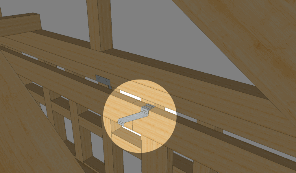 Balken verbinden: Kreuzung mit einem Gerberverbinder