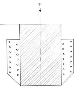 Balkenschuh Skizze mit der Krafteinwirkung