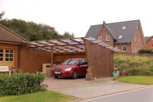 Ein selbstgebautes Pultdach als Carport