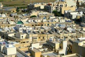 Antike Flachdächer auf Malta