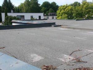 Eine Dachabdeckung aus Bitumen