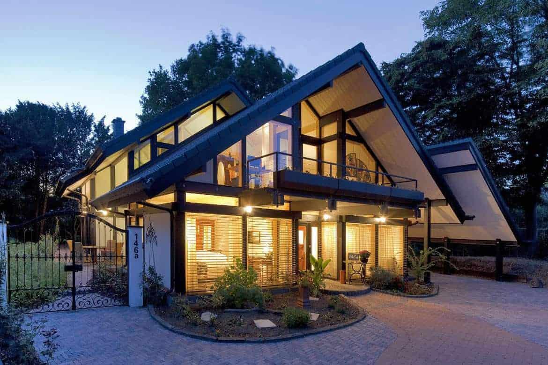 Moderne Gestaltungsmöglichkeit Eines Satteldaches