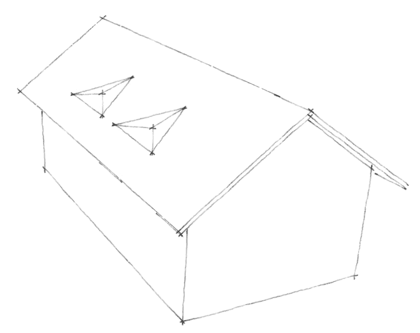 Dachgauben Formen: Dreieckgauben