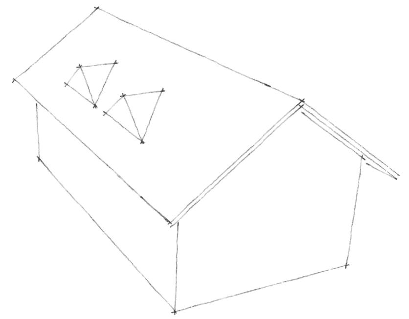 Dachgauben Formen: Spitzgauben