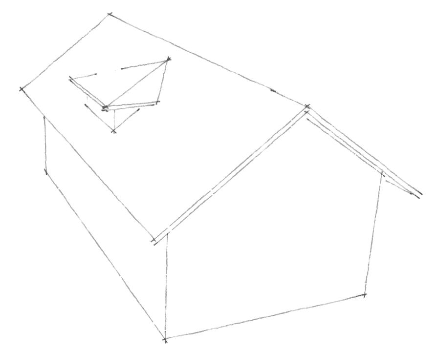Dachgauben Formen: Walmgaube ohne First