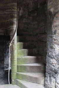 Turmtreppe in einem Castle in Wales